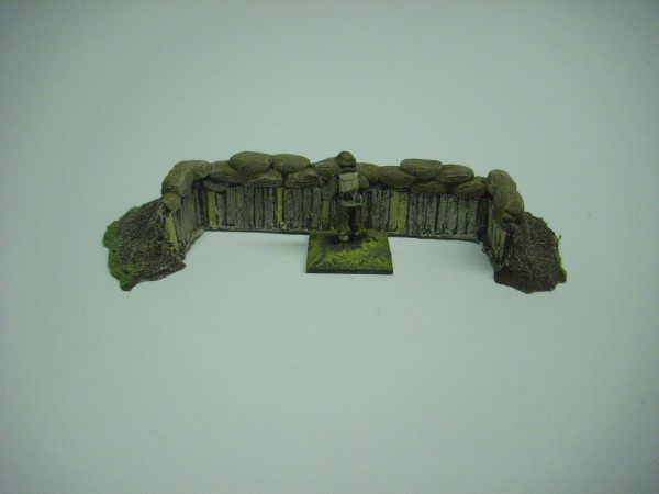 1:72  EARTHWORK WITH CUT TIMBER AND SANDBAGS