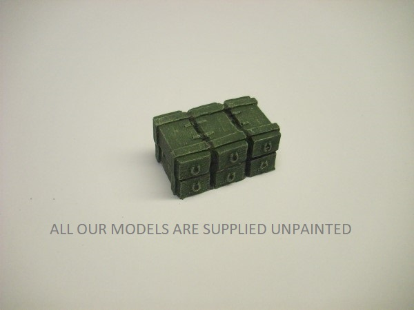 STACK OF 6 WOODEN AMMO BOXES
