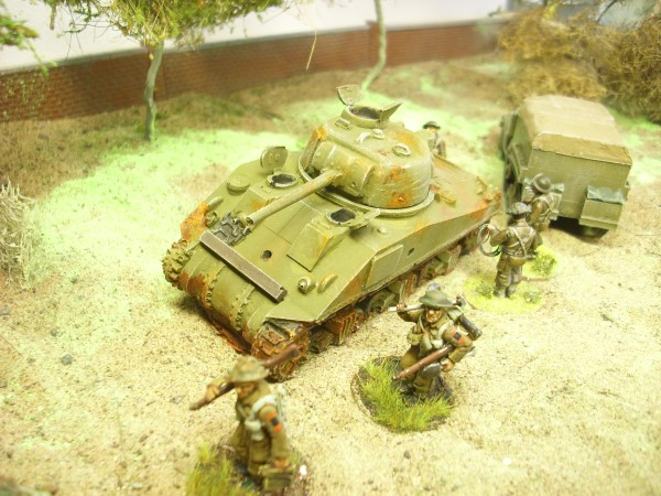 SHERMAN M4A4 BATTLE WRECK