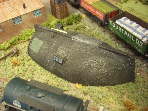 UPTURNED BOAT HULL DWELLING