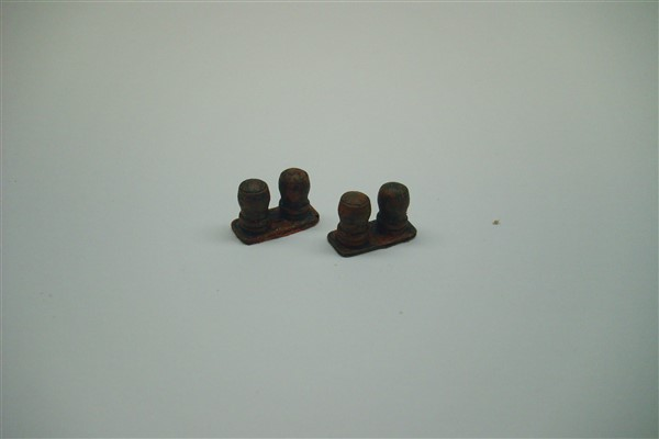 TWIN BOLLARDS pack of 4 castings