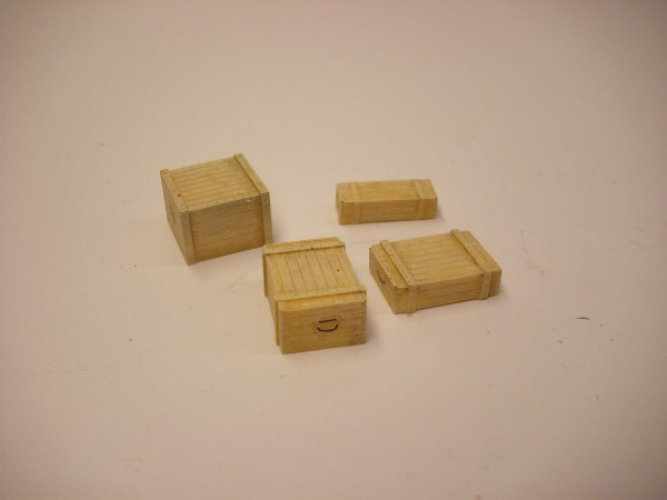 4 WOODEN SUPPLY CRATES