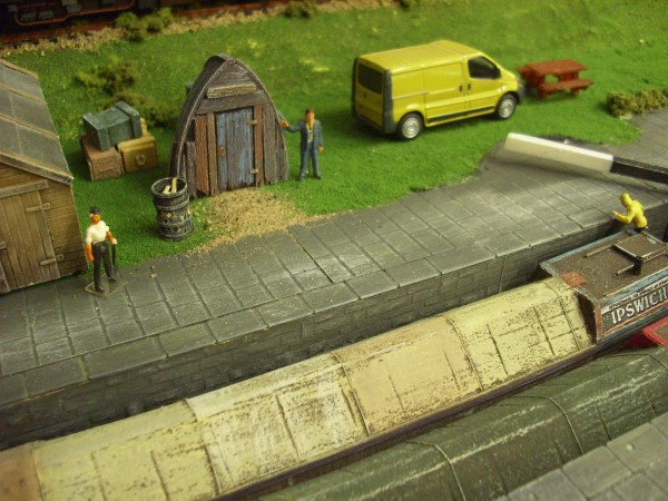 1:76  SHED MADE FROM OLD BOAT HULL