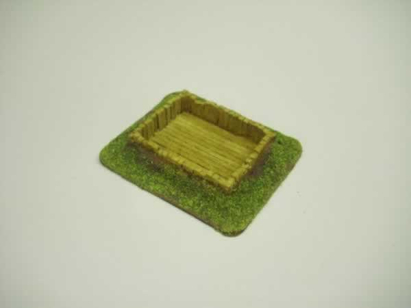 1:100  WOOD LINED RIFLE PIT