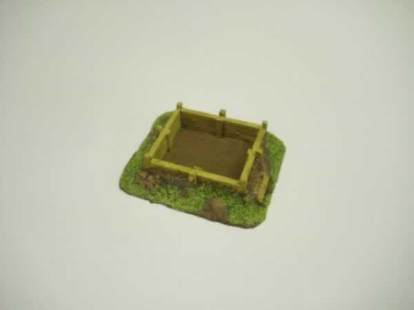 1:100  WOOD LINED RIFLE PIT # 2