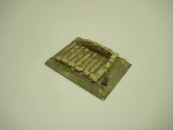 1:100  EARTH & TIMBER FIELD GUN BERM