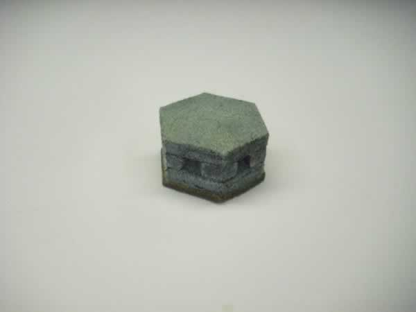 CONCRETE HEX PILL BOX