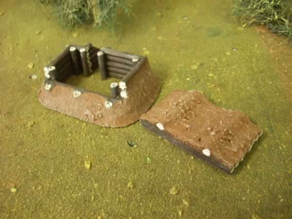 LOG BUNKER WITH ROOF