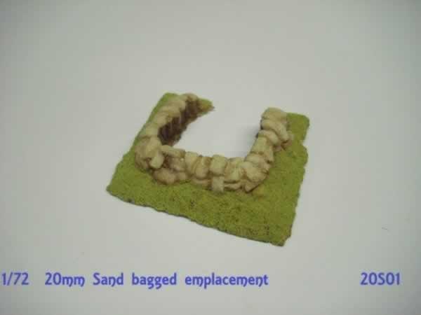 SAND BAGGED GUN EMPLACEMENT  20S01