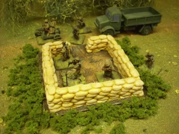 SAND BAGGED AA EMPLACEMENT
