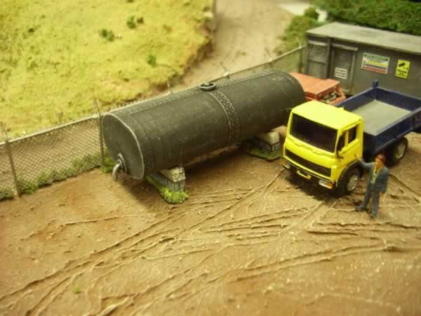 OIL STORAGE TANK. OVAL SHAPE