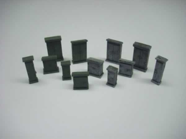 1:76 RELAY CABINET SET  x 12