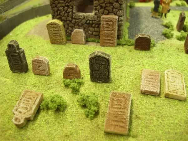 WEATHERED GRAVESTONES