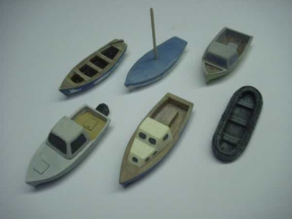 1:76 SMALL BOAT PACK x 6