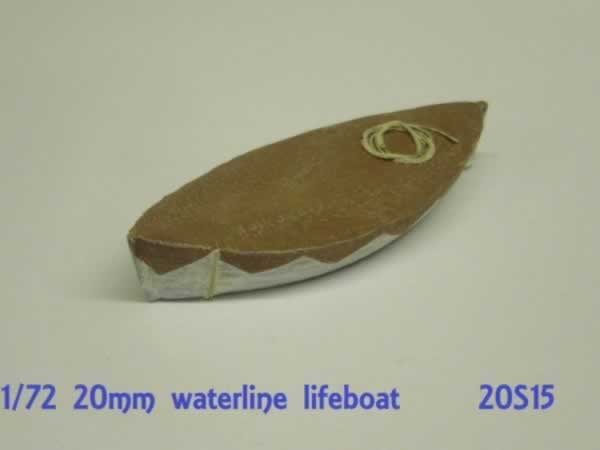 1:76 SHIPS LIFEBOAT. WATERLINE MODEL
