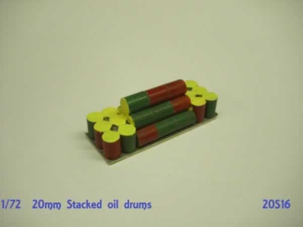 STACKED CHEMICAL DRUMS