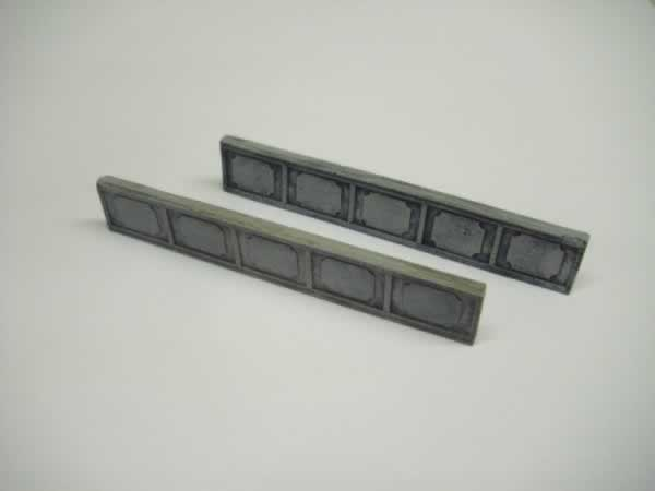 CAST IRON RAIL BRIDGE SIDES pair