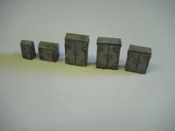 1:76 TRACKSIDE ELECTRICAL CABINETS x 10