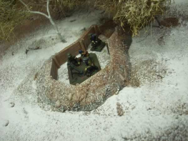 WOOD LINED ARTILLERY PIT
