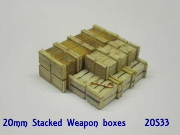 STACKED AMMO BOXES