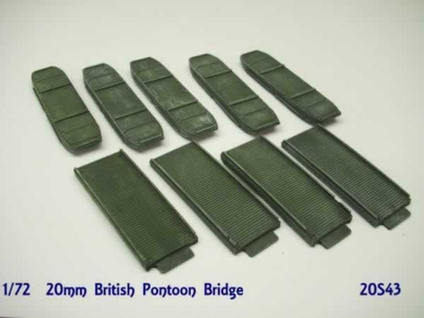 BRITISH EARLY WW2 PONTOON BRIDGE