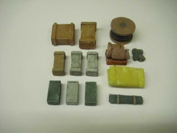 1:76 LORRY/WAGGON LOAD WITH CABLE DRUM