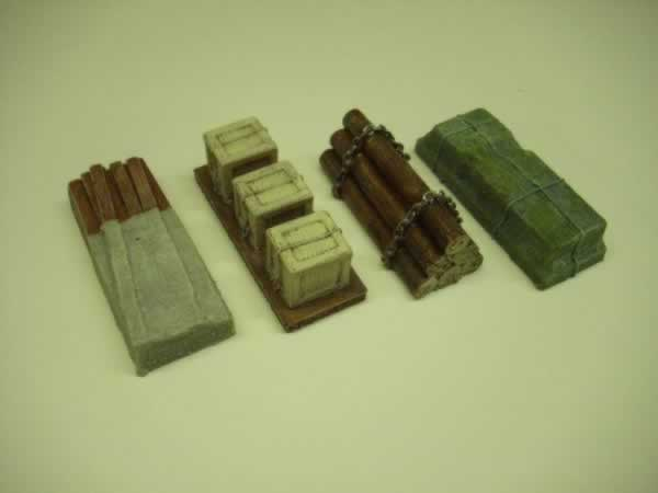 1:76 RAILWAY WAGON LOAD  'b' x 4