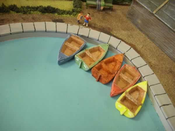 1:76 BOATING POND BOATS X 5
