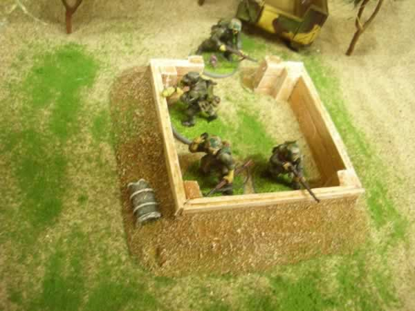 SQUARE TIMBER EMPLACEMENT