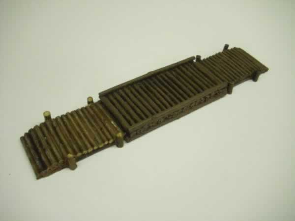 LOG BRIDGE or ROPE PULLED FERRY 3pc