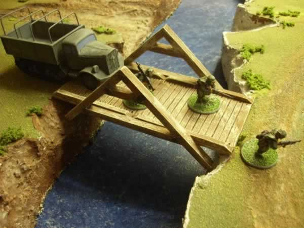 TEMPORARY WOODEN BRIDGE