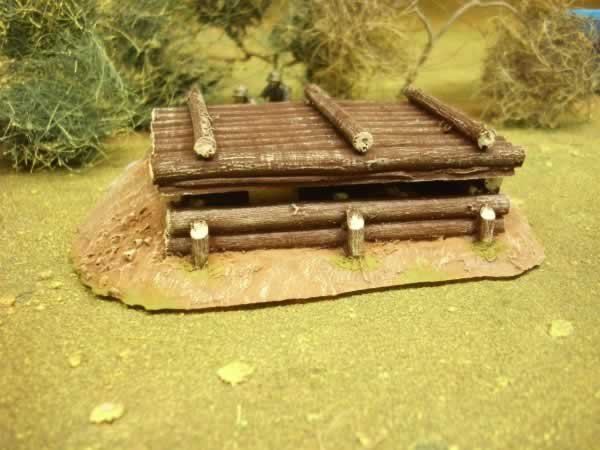ROOFED LOG BUNKER