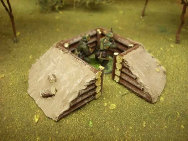 SMALL SQUARE LOG BUNKER